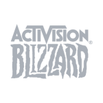 Activision Blizzard logo in grayscale