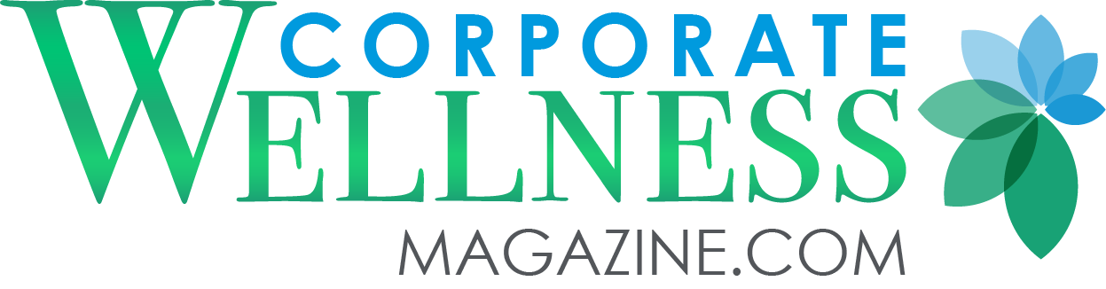 Coroporate Wellness Magazine logo in blue and green