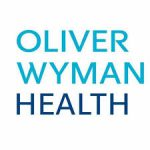 Oliver Wyman health logo in blue