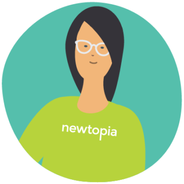Illustration of a Newtopia employee