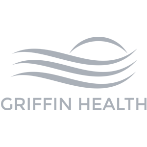 Griffin Health logo in grayscale