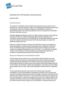 SB Actuaries Research Report - November 2020