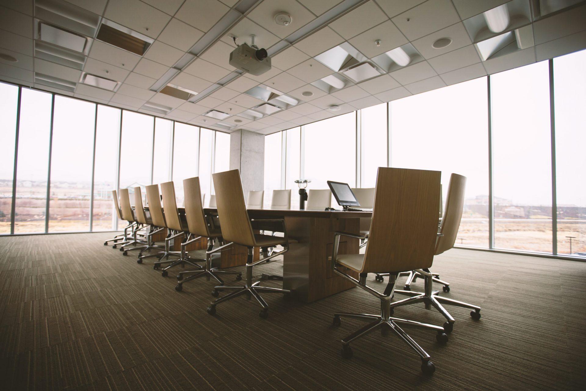 bright office boardroom
